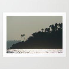 Palm Trees on Monkey Island Art Print