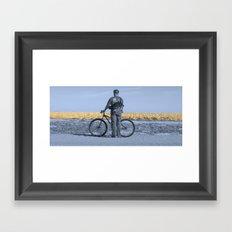 Fall Blue Framed Art Print