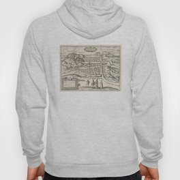Vintage Map of Edinburgh Scotland (1581) Hoody