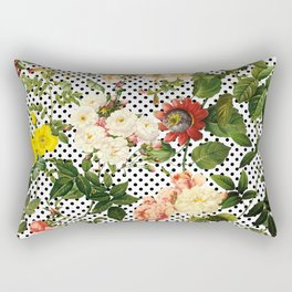 Points and Flowers Pattern Rectangular Pillow