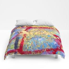 Textures in paint Comforters