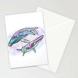 Humpback and Minke Whale Stationery Cards