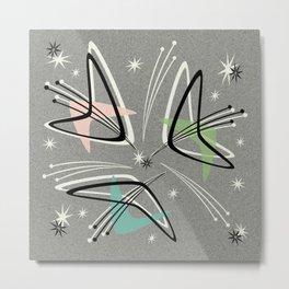 Atomic Boomerangs on Gray Metal Print
