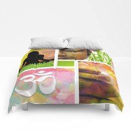 Zen & Spiritual Meditation Collage Comforters