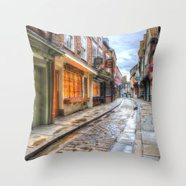 The Shambles Street York Throw Pillow
