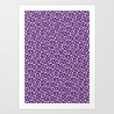 Pixel Art 4 Art Print