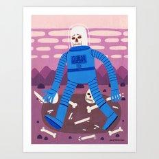 Sad Spaceman  Art Print