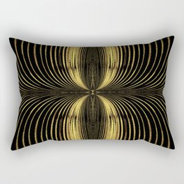 Golden Streamers Rectangular Pillow