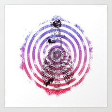 Skeleton Bullseye Art Print