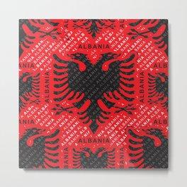 Albanian flag pattern 2 Metal Print