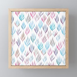 Watercolour Ferns | Pastel Mix Framed Mini Art Print