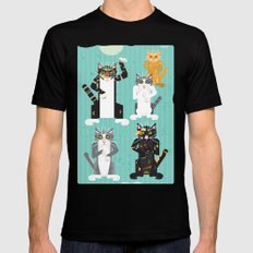 Cats I have known MEDIUM Mens Fitted Tee Black