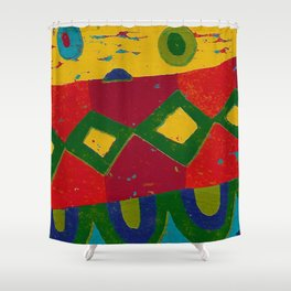 Reduction in colour Shower Curtain