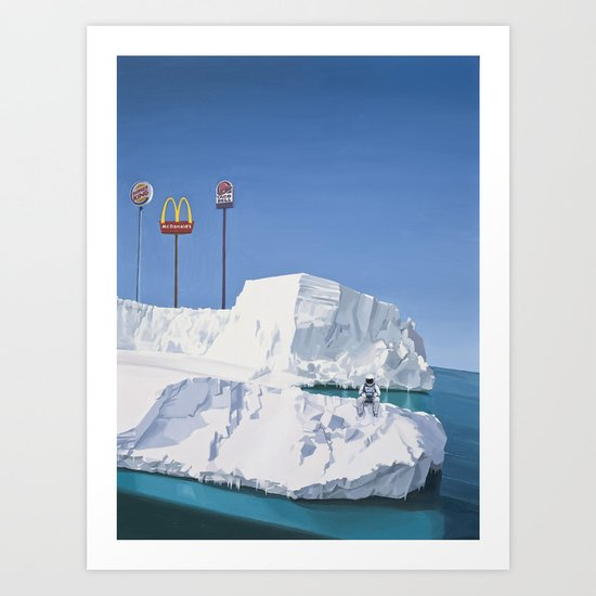 The Iceberg Art Print