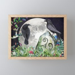 Raven Moon Magick Framed Mini Art Print
