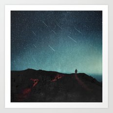 night of falling stars Art Print