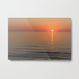 Symphony in Orange Ocean Sunrise Metal Print
