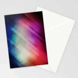 Vivid - Colorful Geometric Mountains Texture Pattern Stationery Cards