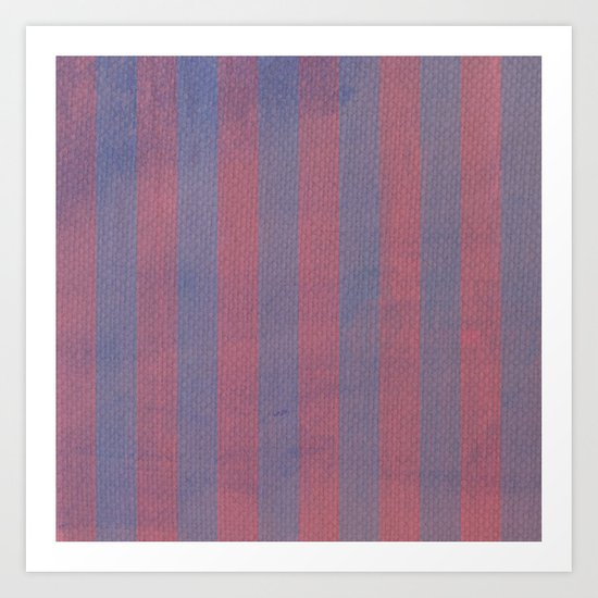 Worn Stripes Art Print
