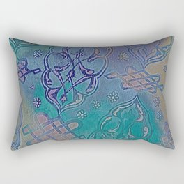 Turkish Pattern Inverted Color Variation Rectangular Pillow