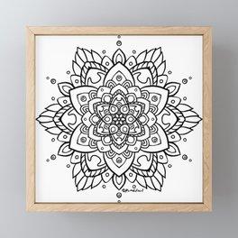 Feathered Mandala A - Black Framed Mini Art Print