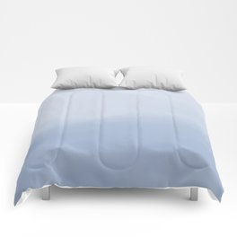 Blue Ombre Watercolor Comforters