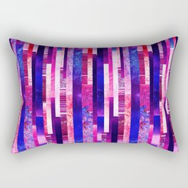 Abstract purple vertical lines background Rectangular Pillow