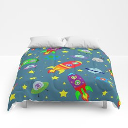 Rockets to the moon Comforters