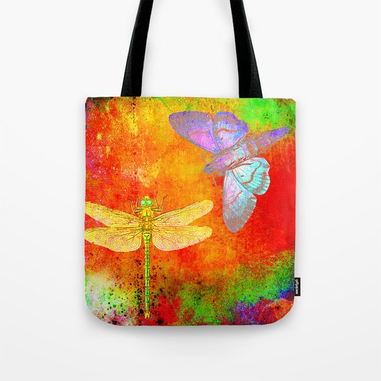The Dragonfly and the Butterfly Tote Bag