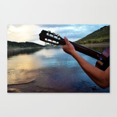 Strumming to the Sea Canvas Print