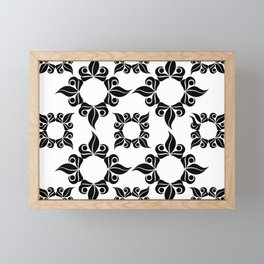Decorative Black And White Pattern Framed Mini Art Print