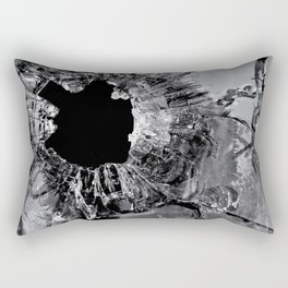 High Contrast Bullet Hole - Kill Your Television Abstract Rectangular Pillow
