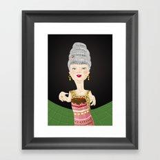 Let them eat cake Framed Art Print