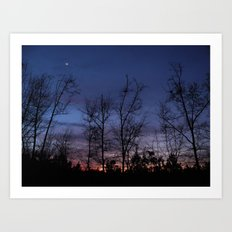 The line between night and day Art Print