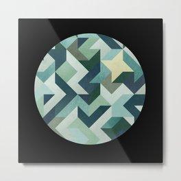 circle geometry (Black Background) Metal Print