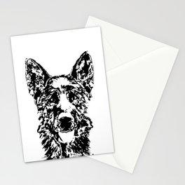 German Shepherd Pen Ink Drawing Stationery Cards