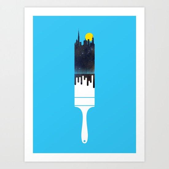 Paint the Town Art Print