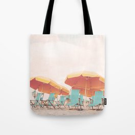 Beach Chairs and Umbrellas Tote Bag