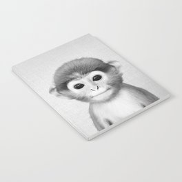 Baby Monkey - Black & White Notebook
