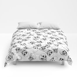 A Lot of Skulls White Comforters