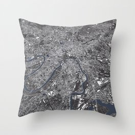 Moscow City Map Throw Pillow