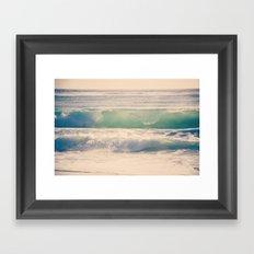 Green Spray Framed Art Print