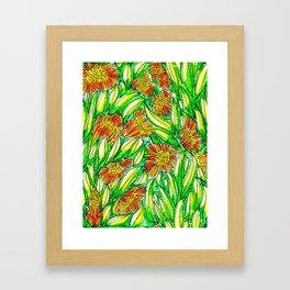 Ice Plants Framed Art Print