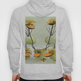 Five Upcycled Funny Quirky Chicks Hoody