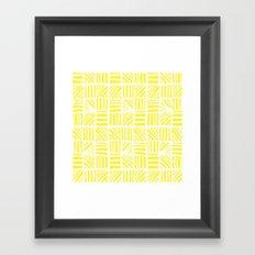 Weave Pattern - Yellow Framed Art Print