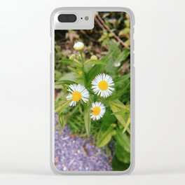 Three Little Flowers Clear iPhone Case