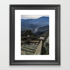 Stairway to the valley Framed Art Print