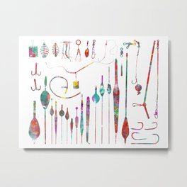 All the needful things for fishing Metal Print