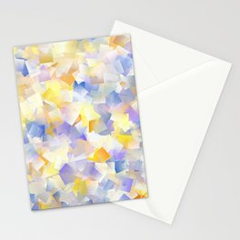 Spring Daffodil Flowers In Cubes Stationery Cards