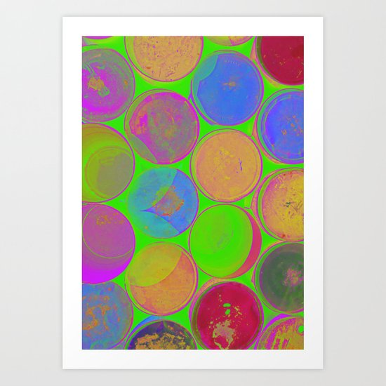 The Lie is a Round Truth. Green. Art Print